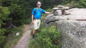Dave Hollenbeck, a member of the Waldron's Warriors, in Acadia National Park.