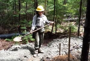 Larissa Fullmer, trail worker at Acadia National Park
