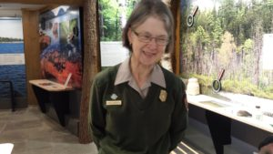 Anne Warner, seasonal park ranger at Acadia National Park
