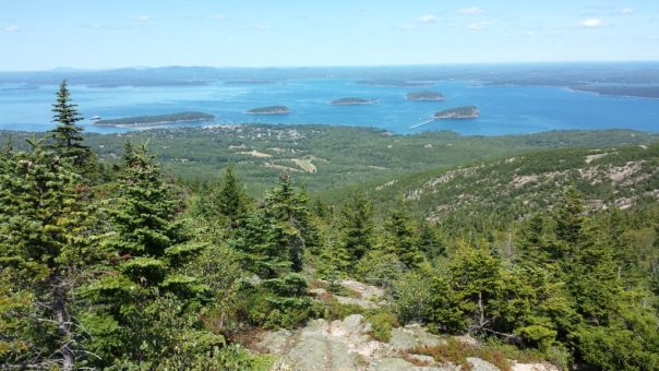 View from the Cadillac North Ridge Trail in Acadia National Park