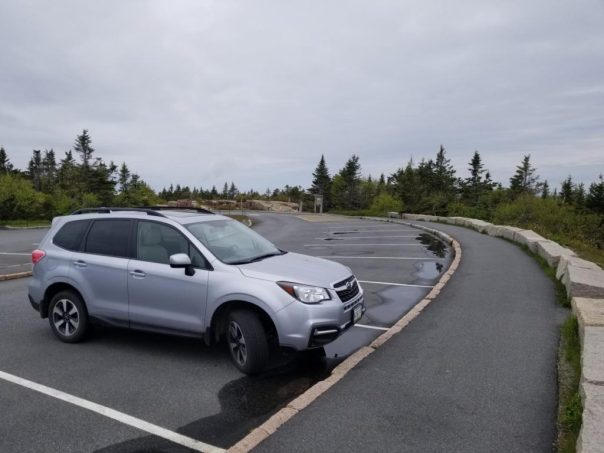 Parking on Cadillac Mountain in Acadia National Park
