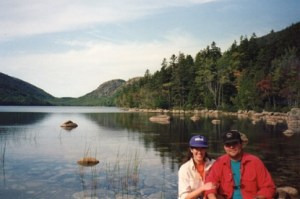 Deni and Kevin Farr at Acadia National Park in 1993