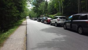 Parking on Ocean Drive in Acadia National Park