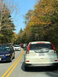 Traffic congestion at Acadia National Park
