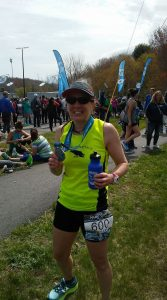 Kathy Dixon-Wallace at Maine Coast Half Marathon