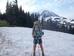 Kathy Dixon-Wallace on Wonderland Trail in Washington