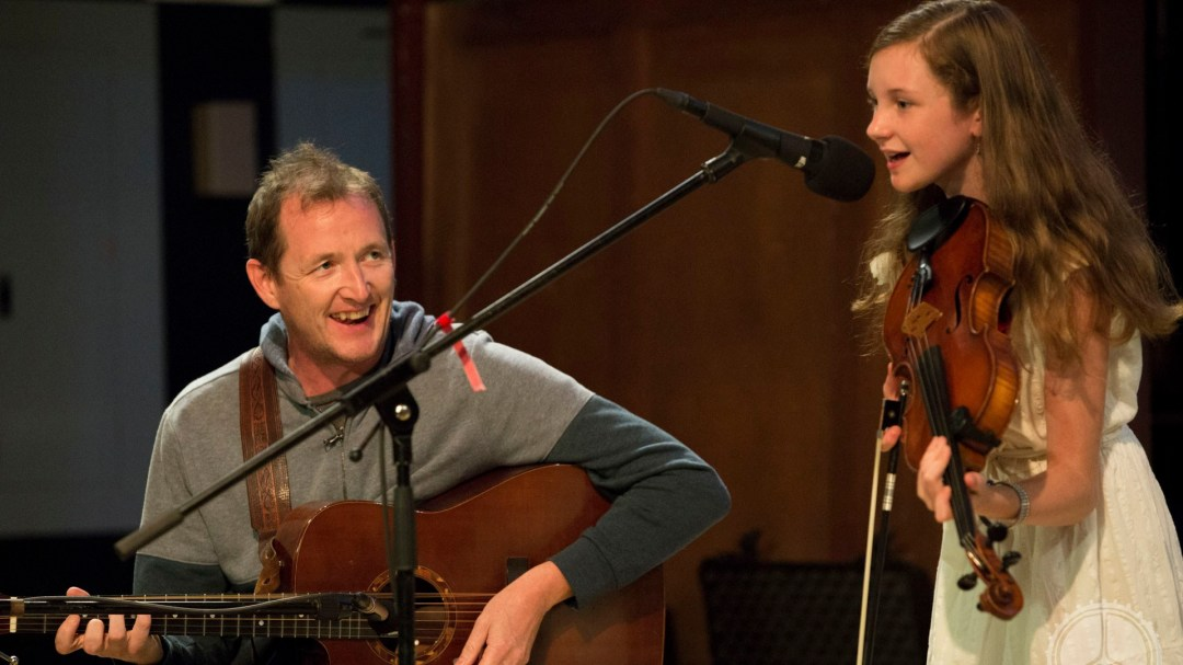 Lillian Chase and John Doyle perform at the 2016 Acadia Trad Festival