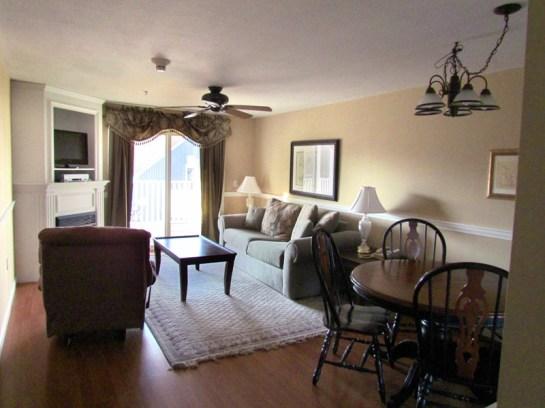 Living Room Acadia Village Resort
