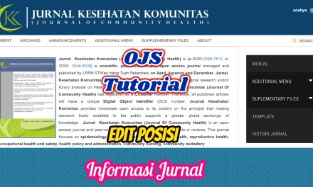 Tutorial OJS Modifikasi Informasi Jurnal di Halaman frontend Jurnal