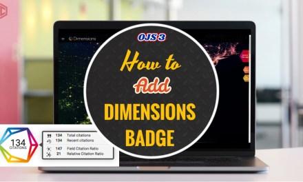 Membuat Dimension Badge OJS 3
