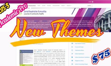 New OJS Theme Academic Pro Premium Journal Themes