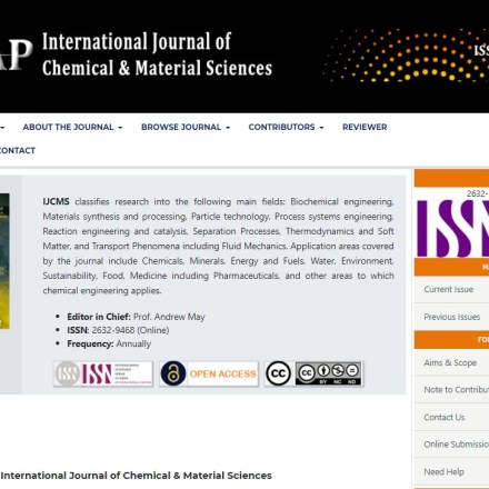 International Journal of Chemical & Material Sciences (IJCMS)