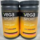 2 Vega Sport Pre-Workout Energizer Dietary Supplement Acai Berry 19oz Each