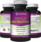 Pure Resveratrol – 2000mg – Strongest, Most Effective Blend – 90 Capsules