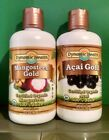 Dynamic Health Mangosteen Gold(9/19) & Acai Gold(10/19) 32 FL OZ Each Liquid
