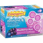 Emergen-C Immune+ System Support with Vitamin D Blueberry-Acai 30-count, 4 Pack