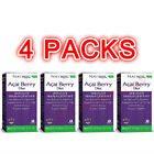 4x Natrol AcaiBerry Diet Acai & Green Tea Superfoods 60 Veggie Weight Management