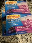 4 Emergen-C Immune with Vitamin D Fizzy Drink Mix, Blueberry-Acai 30 ea
