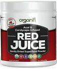 NEW FRESH Organifi 9.5 oz Red Juice Acai and Cordyceps Infused Superfood…