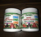 2 NEW Parker Naturals Berry Super Food Greens 8.5 oz Goji Acai Monk Fruit Vegan