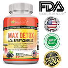 Acai Berry Fruit Extract Inulin Slippery Elm Bark, Psyllium Powder, Max Detox