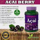 Triple Strength ACAI BERRY 3000mg Cholesterol Energy Acne Supplement 180 Capsule