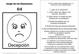 Juego de las emociones 4 frases decepción