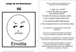 Juego de las emociones 6 frases envidia