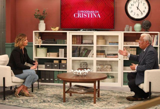 António Costa com Cristina Ferreira