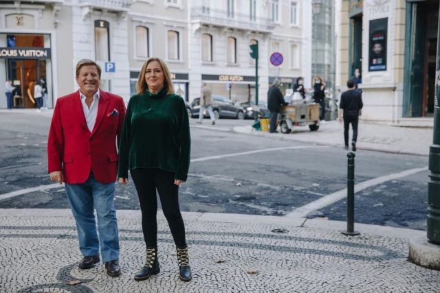 Herman José com Fátima Campos Ferreira