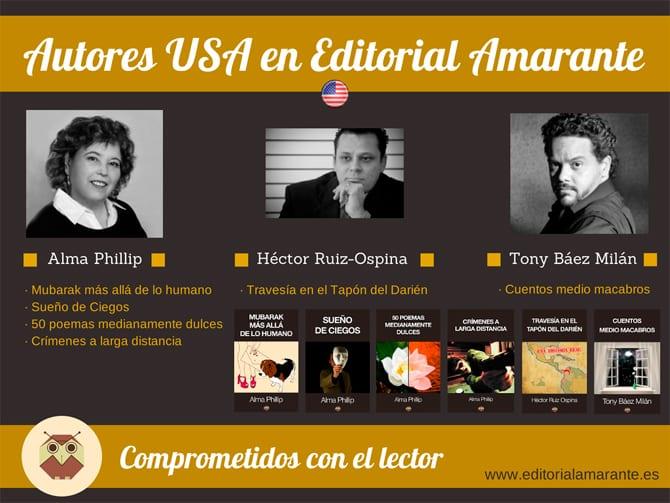 Autores USA en Editorial Amarante
