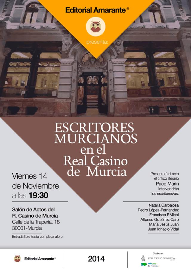 Escritores Murcianos en el Real Casino de Murcia
