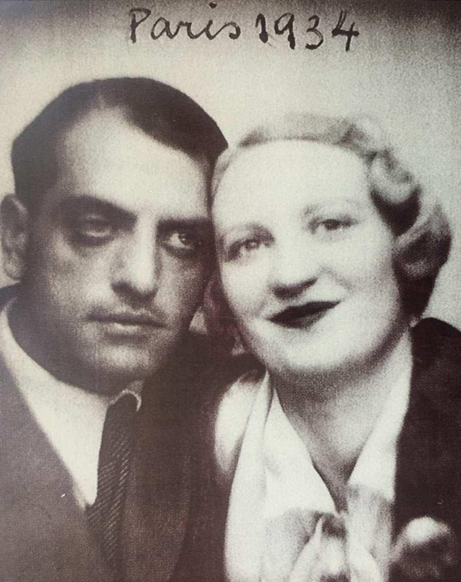 Jeanne Rucar con Luis Buñuel. París 1.934