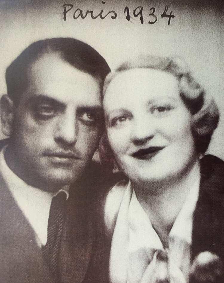 Jeanne Rucar con Luis Buñuel. París 1934