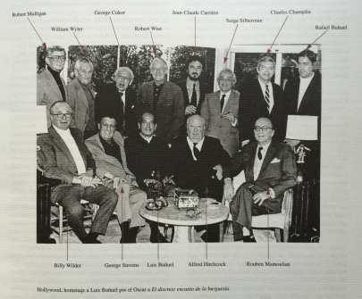 Luis Buñuel rodeado por los mejores directores de cine de Hollywood