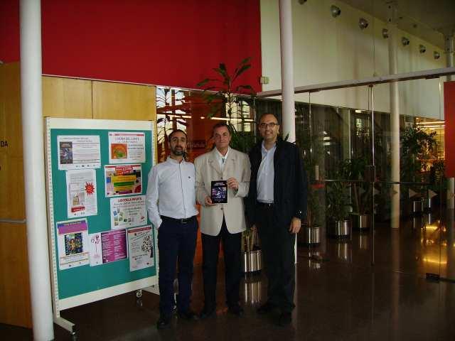 Momentos previos. De izquierda a derecha: Víctor Marchán, Fernando Pardo y Carlos Alonso