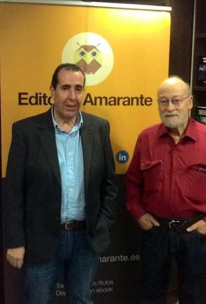 Carlos de Tomás con el poeta Carlos Gamarra