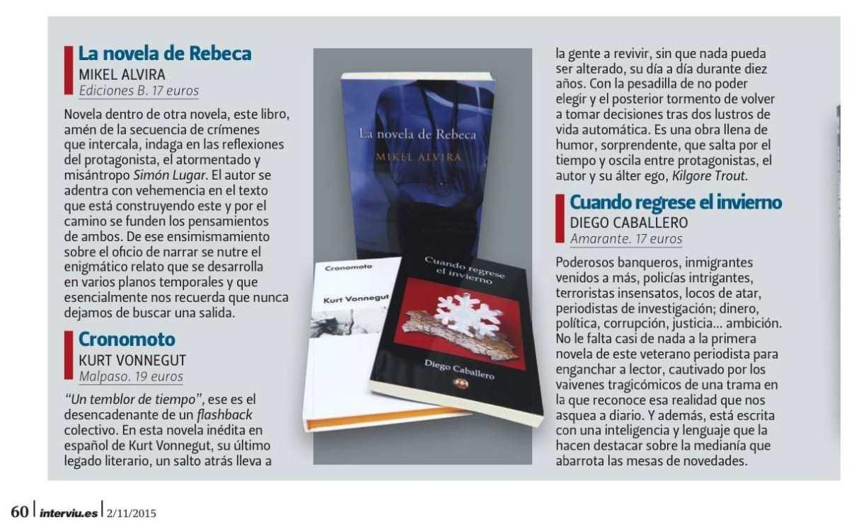 Página 60 de la revista Interviu, en su sección de 'Libros'