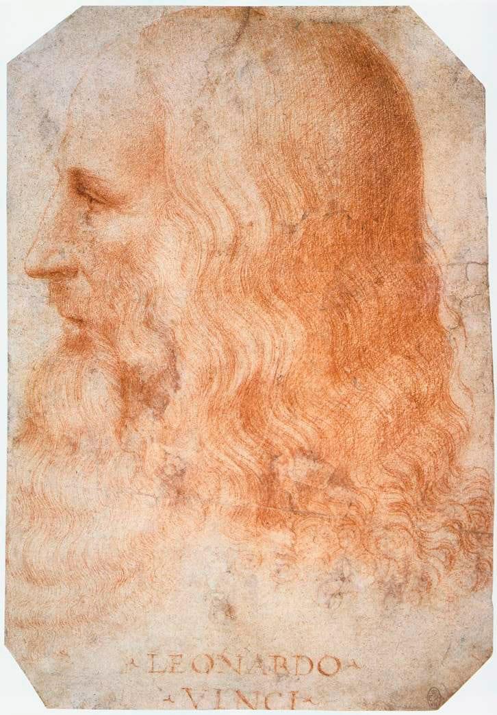 Leonardo da Vinci - Francesco Melzi, Portrait of Leonardo da Vinci, c. 1510
