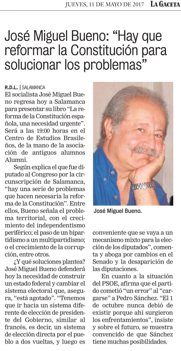 Editorial Amarante - La Gaceta Regional - José Miguel Bueno