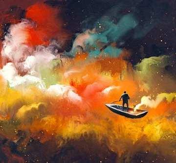 hombre y bote