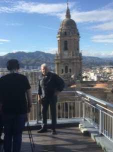 Ron Perlman en la terraza del Hotel Málaga Palacio