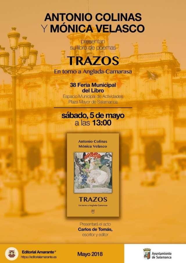 Cartel presentacion_Trazos_Antonio Colinas-Monica Velasco_Amarante_mayo2018