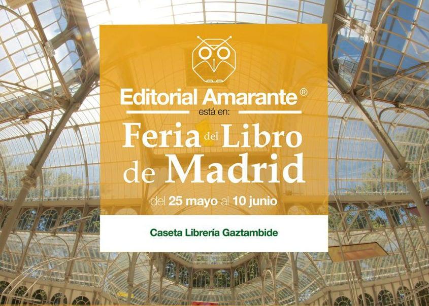 Editorial Amarante en la Feria del Libro de Madrid