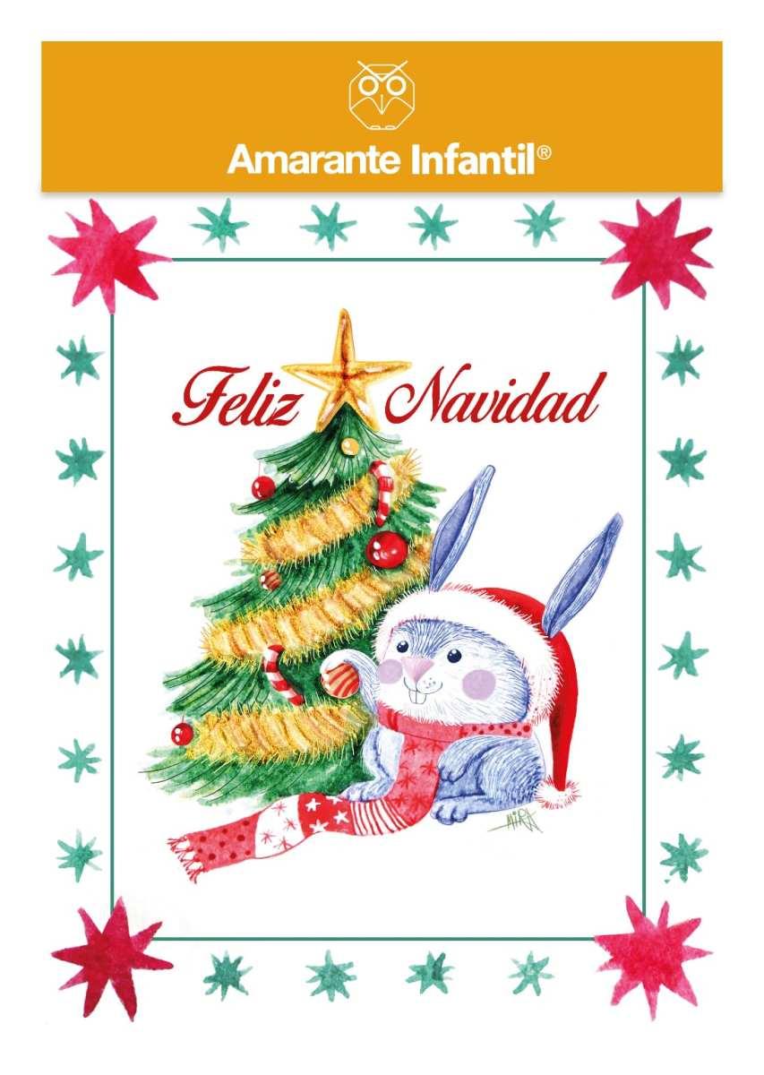 Tarjeta Navidad 2019 Amarante infantil