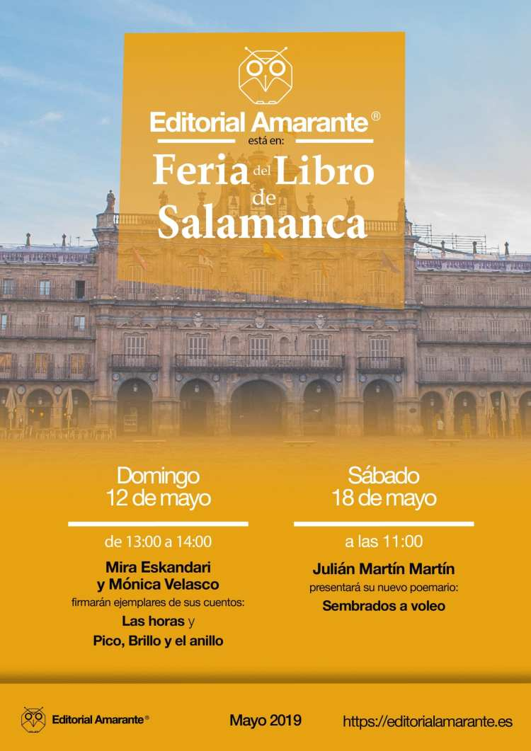 Cartel A3 Feria del Libro Salamanca 2019 Amarante-01