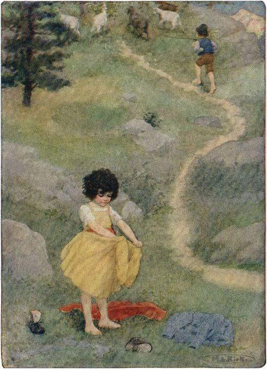 Ilustración de Maria Kirk para Heidi (Spyri, 1880)