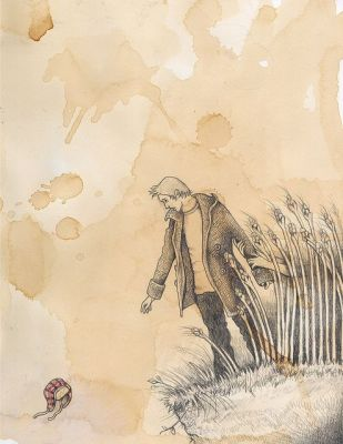 'Catcher in the Rye Original Drawing no. 2' de R.Anilyse