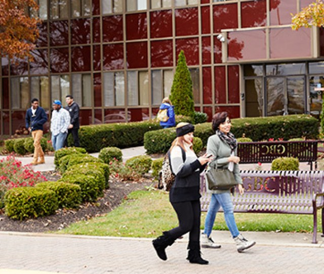 About Gbc Photo Of Students Walking In Front Of The Fulmer Center Building