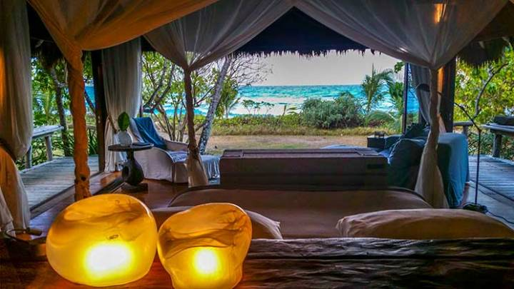 Vista do quarto de North Island, Seychelles. Foto: Adriana Lage